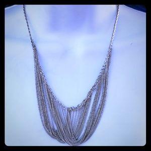 Jewelry - Sterling Silver Drape Chain Bib Necklace